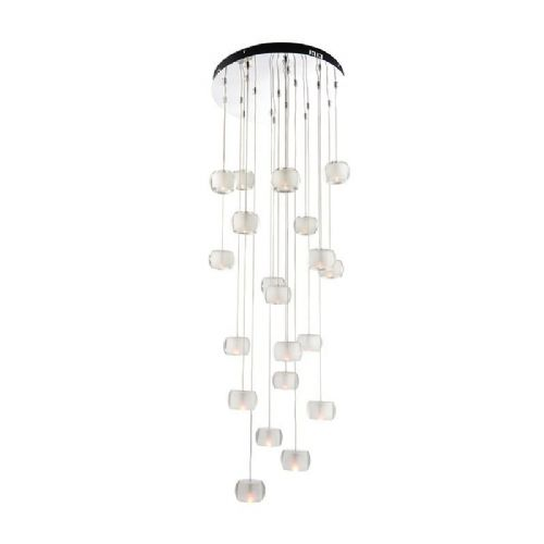 Chrome plate & clear crystal (k9) glass + frosted inner Pendant Light BX61805-17  (Double Insulated)